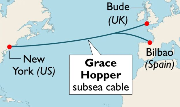 Mapa del cable de Google Grace Hopper